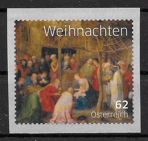 colección sellos navidad Austria 2014
