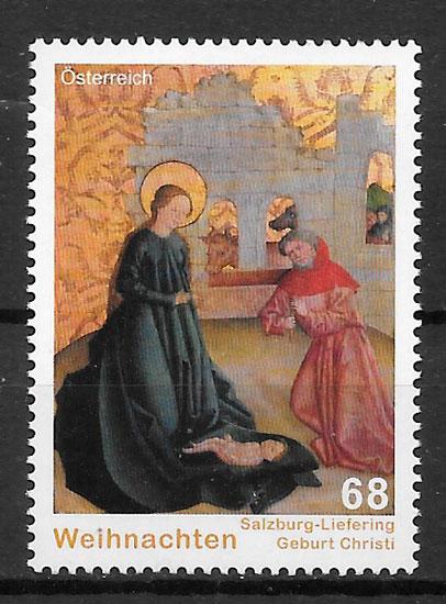 sellos navidad Austria 2015