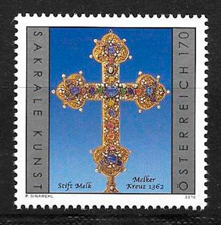 colección sellos arte Austria 2016