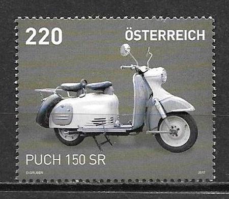 filatelia colección transporte Austria 2017