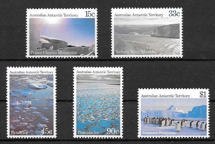 filatelia turismo Autralia Territorio Antártico 1985