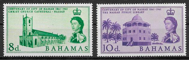 sellos arquitectura Bahamas 1962