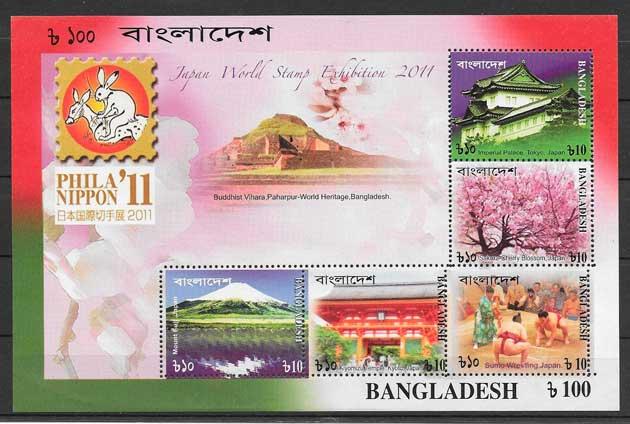 filatelia arquitectura y turismo Bangladesh 2011