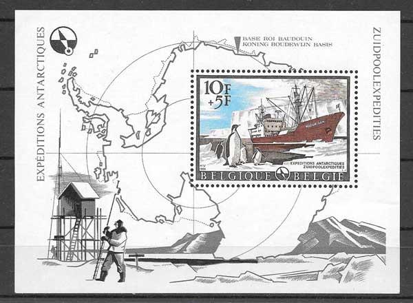 Sellos Bélgica transporte marítimo 1966