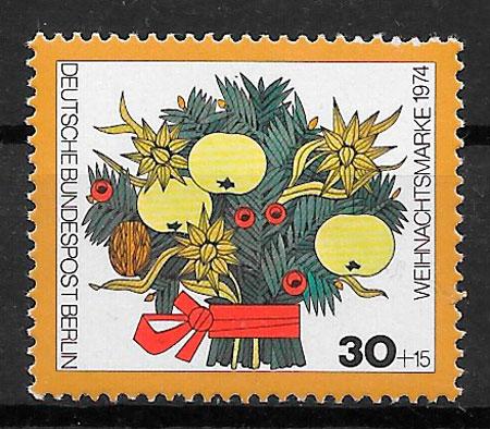 filatelia navidad Alemania Berlin 1974