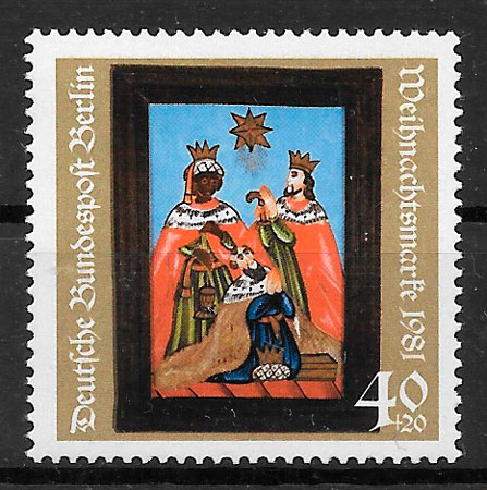sellos navidad Berlin 1981