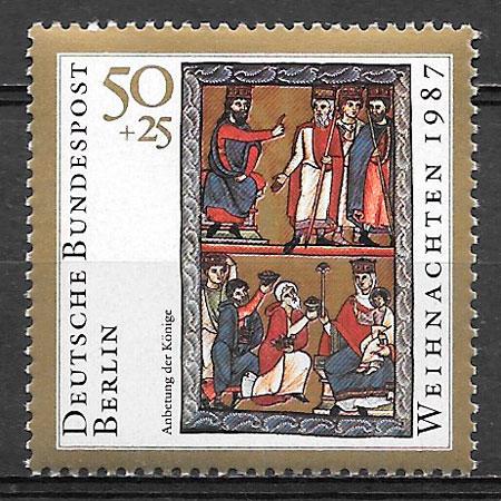 filatelia colección navidad Berlin 1987