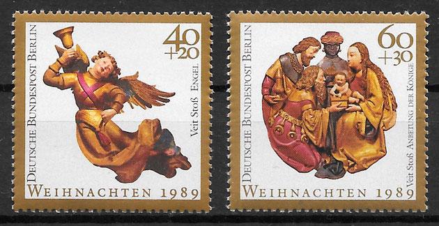 sellos navidad Berlin 1989