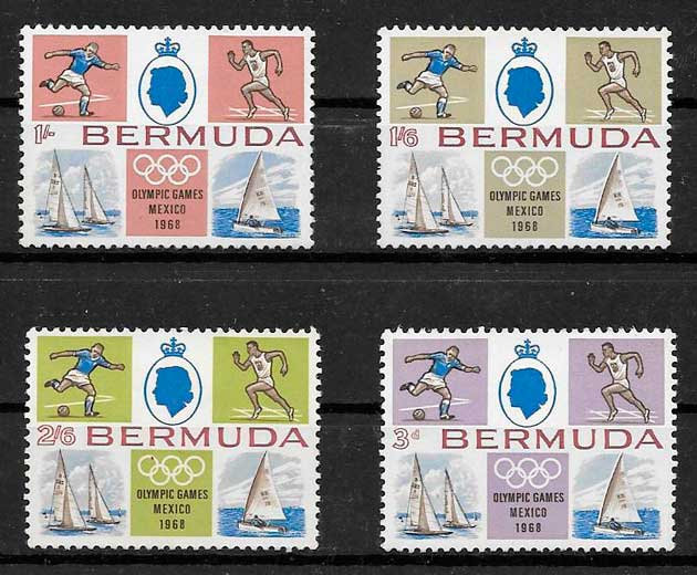 sellos deporte Bermuda 1968