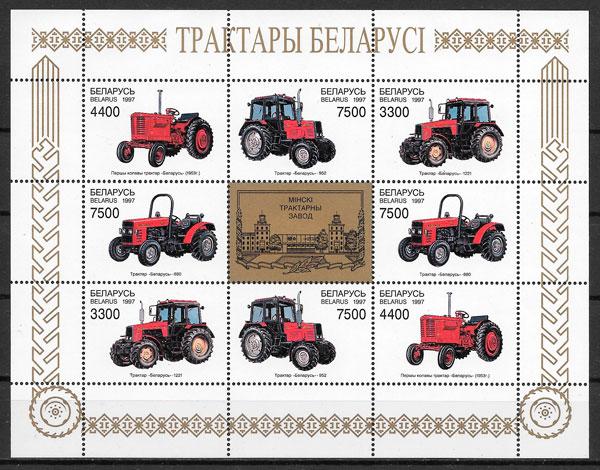 filatelia transporte Bielorrusia 1997