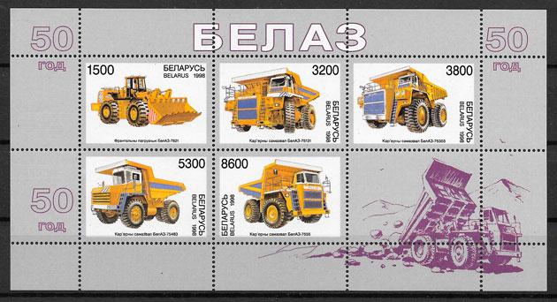 filatelia transporte Bielorrusia 1998