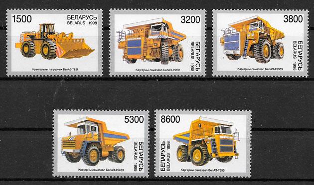 sellos transporte Bielorrusia 1998