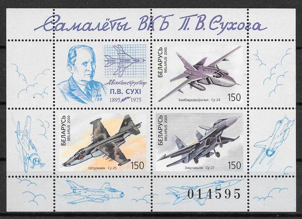 colección sellos transporte Bielorrusia 2000