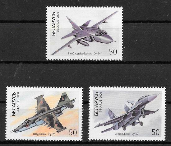 sellos transporte Bielorrusia 2000