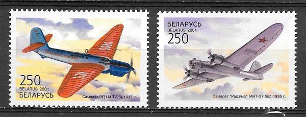 filatelia transporte Bielorrusia 2001