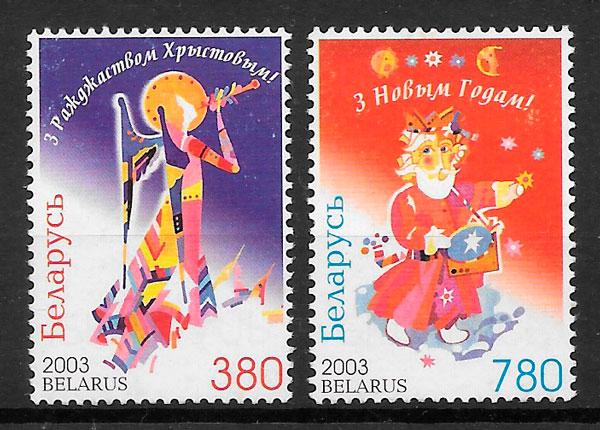 filatelia colección navidad Bielorrusia 2003