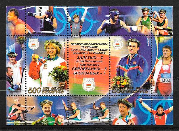 sellos deporte 2004 Bielorrusia