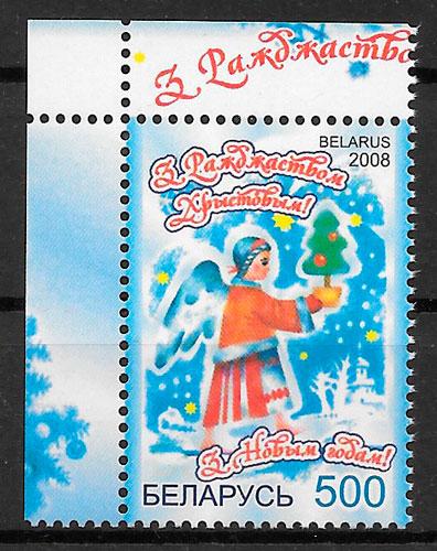colección sellos navidad Bielorrusia 2008