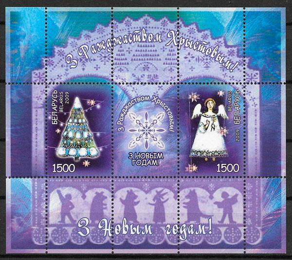 sellos navidad Bielorrusia 2009