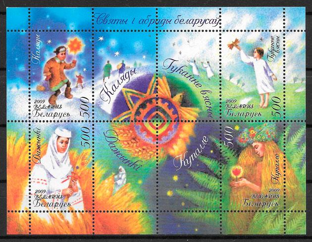 filatelia arte Bielorrusia 2009