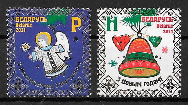 sellos navidad Bielorrusia 2011