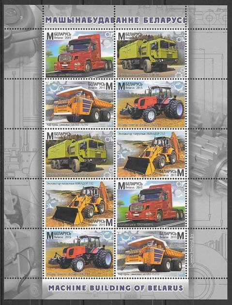 sellos coleccionismo Bielorrusia transporte