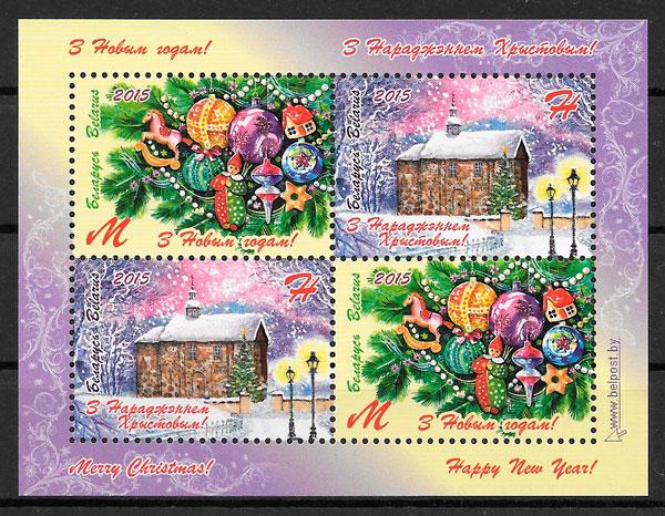 filatelia colección navidad 2016 Bielorrusia