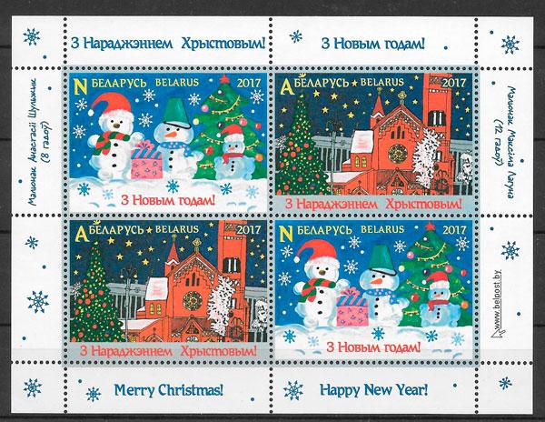 colección sellos navidad 2018 Bielorrusia