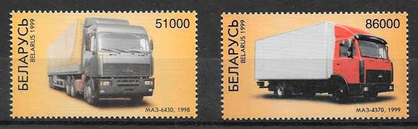 filatelia colección transporte Bielorrusia 1999