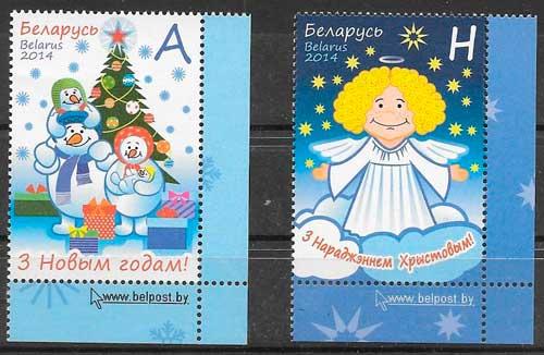 sellos navidad Bielorrusia