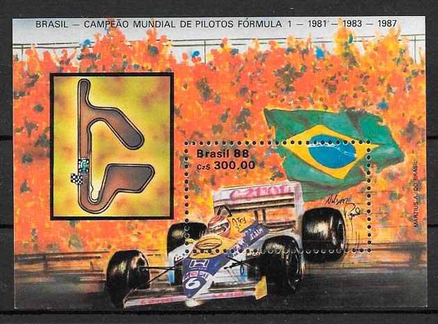 filatelia deporte Brasil 1988