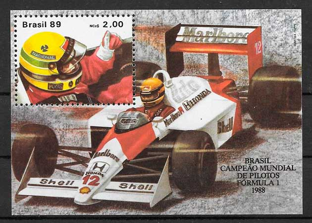 sellos deporte Brasil 1989