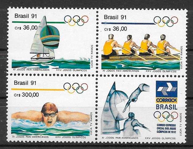 colección sellos deporte Brasil 1991