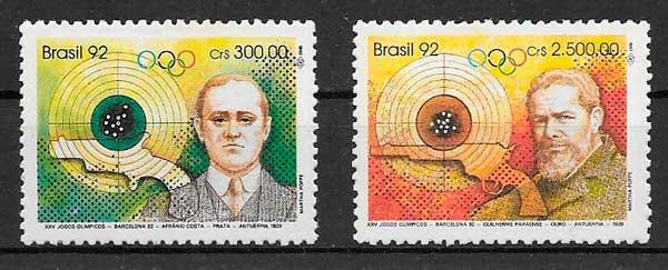 sellos deporte Brasil 1992