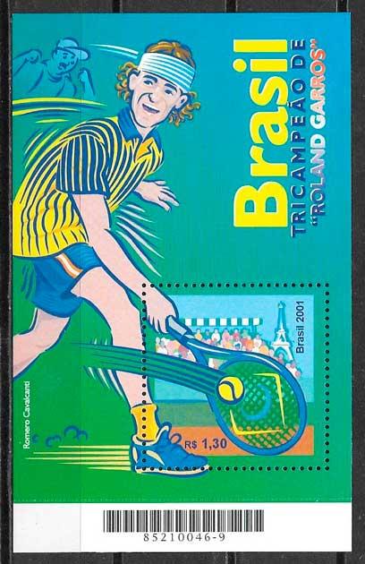 filatelia deporte Brasil 2001