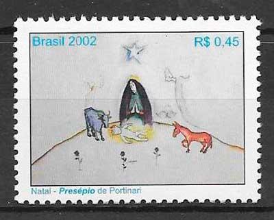 colección sellos navidad 2002