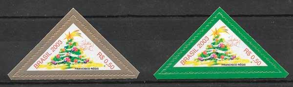 sellos navidad Brasil 2003