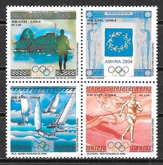 sellos deporte Brasil 2004