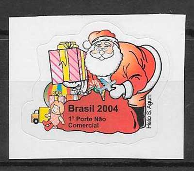 sellos navidad 2004 Brasil