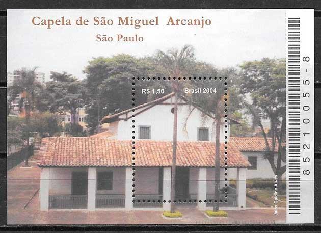 filatelia arquitectura Brasil 2004