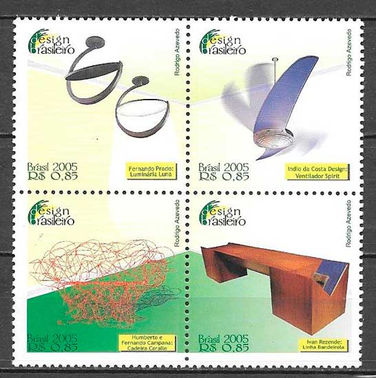 colección sellos arte Brasil 2005