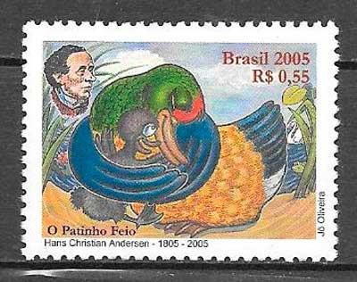colección sellos cuentos Brasil 2005