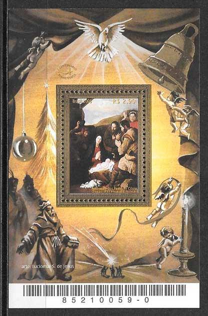 sello navidad Brasil 2005