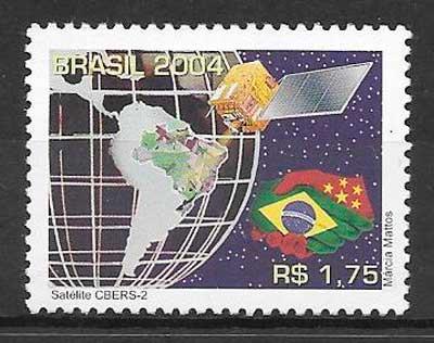 filatelia colección espacio Brasil 2004