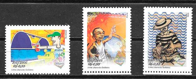 colección sellos arte Brasil 2006