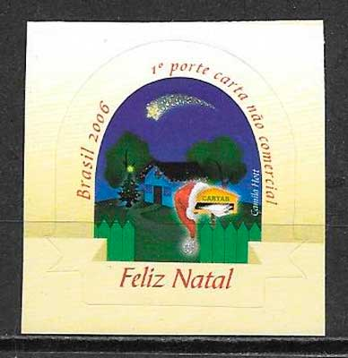 filatelia navidad Brasil 2006