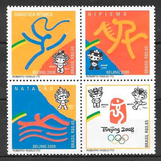 sellos deporte Brasil 2008