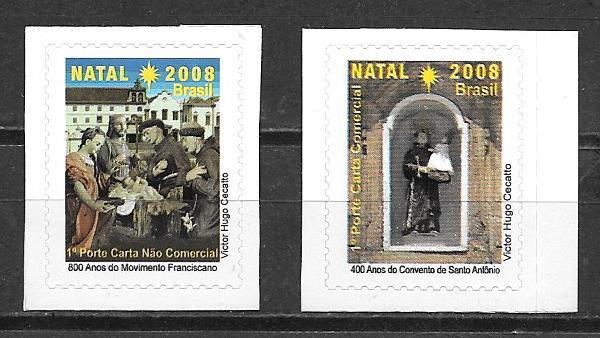 filatelia colección navidad 2008 Brasil