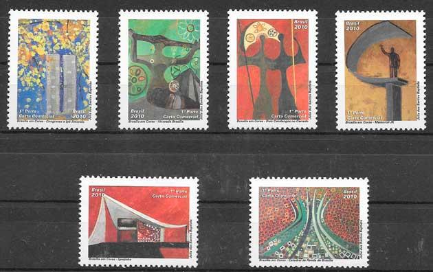 colección sellos arquitectura Brasil 2010