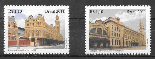 colección sellos arquitectura Brasil 2011